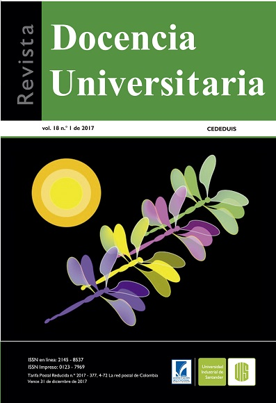 Vol. 18 Núm. 1 (2017): Revista Docencia Universitaria